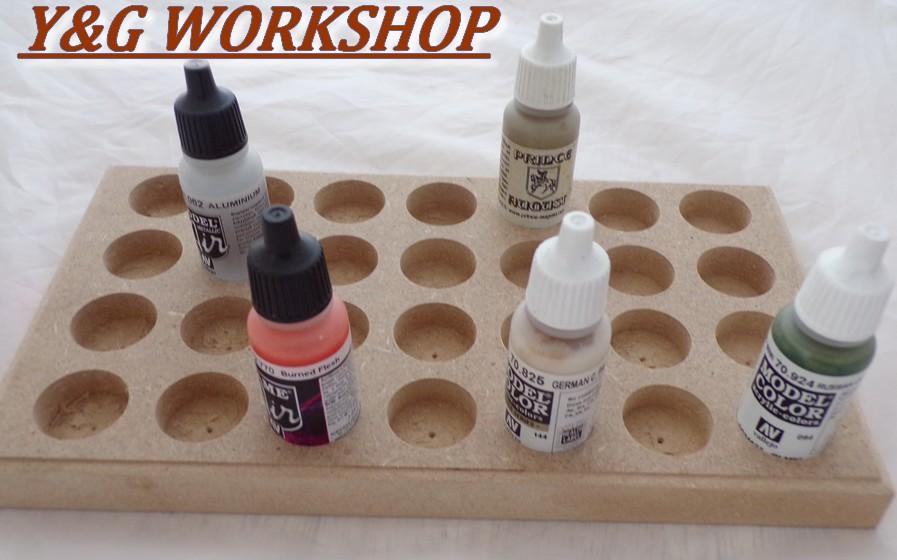Plateau de rangement peinture pour 17 ml