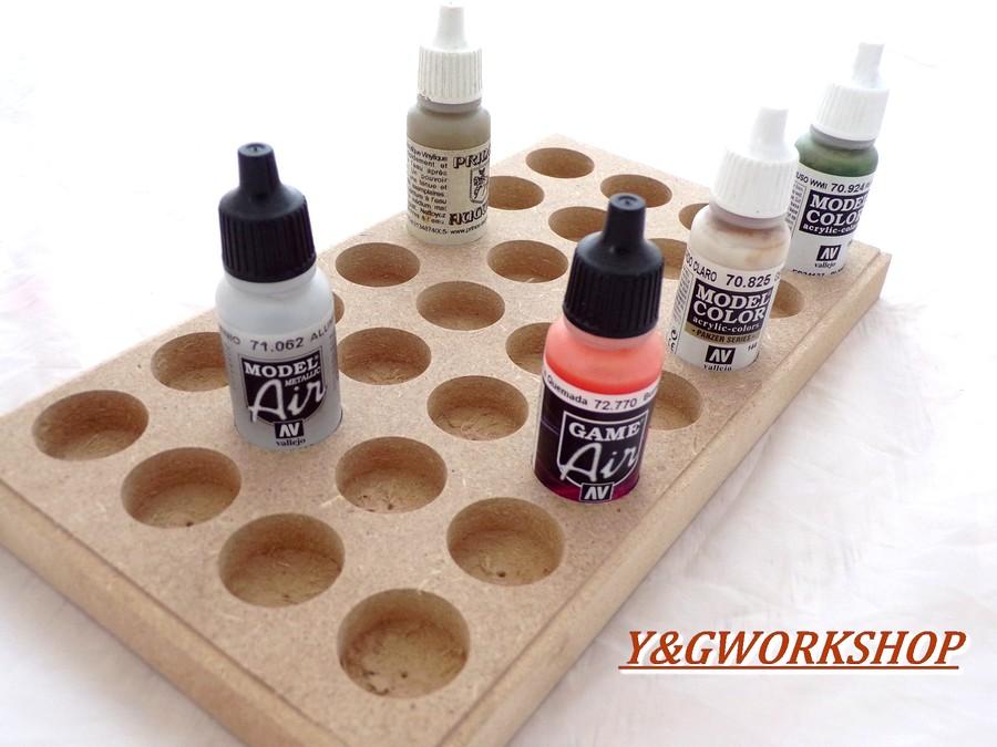 Plateau pour rangement peinture pour du 17 ml